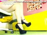 Красивые женские ножки в колготках и туфельках (Ножки, Фетиш, Фут, Foot, Fetish, Чулки, Legs, Секси)