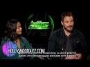 RUS SUB: интервью Зои Салдана и Криса Прэтта для «Hollywood XYZ»