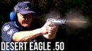 DESERT EAGLE 50 CAL WORLD RECORD- 5 SHOTS IN 0.8 SECONDS in HIGH SPEED! (Jerry Miculek)