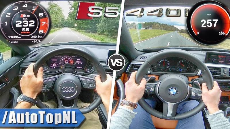 BMW 440i Gran Coupe xDrive vs Audi S5 Sportback Quattro ACCELERATION SOUND POV by AutoTopNL