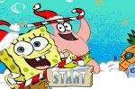 Губка Боб рождественская бродилка игра для двоих