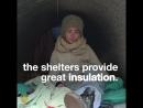 Реалии современной Франции Igloos for the homeless in Paris