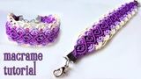 Macrame bracelet tutorial The purple sunset
