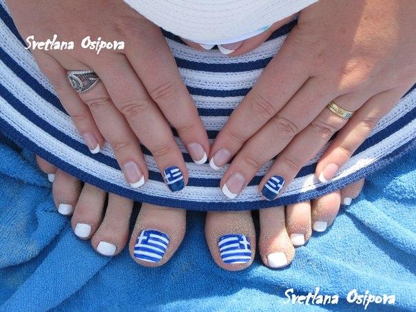 греческий рисунок на ногтях фото