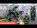 LEGO NINJAGO Mashup Garma Mecha Man Green Ninja Mech Dragon INSTRUCTIONS NOT INCLUDED