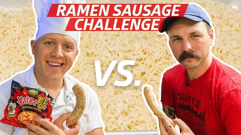 Expert Sausage Makers Compete in a Ramen Sausage Making Competition — Prime Time