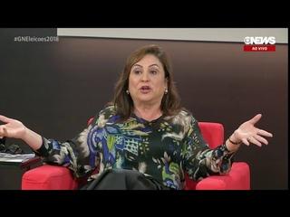 Kátia Abreu, vice de Ciro Gomes, passa a motosserra nas caras de pau.