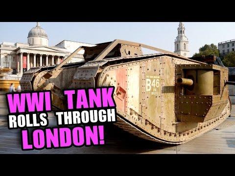 WWI TANK Drives Through LONDON! 100 Years Of Tanks (4K)