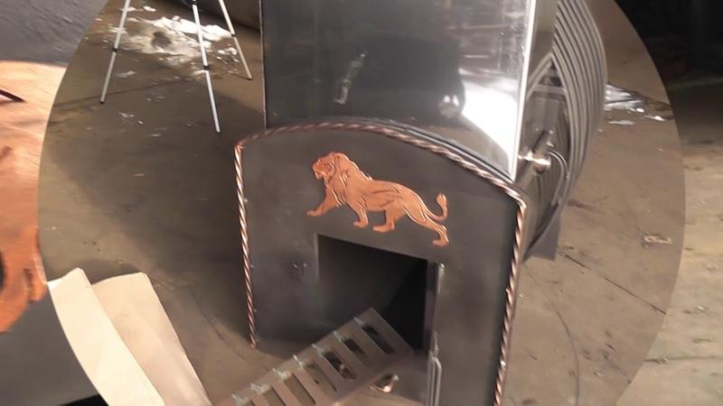 Печь банная ВОЛГА-2 от Карпова .Для бани 18-24 куб.м. Печь с кованой ажурной каменкой.