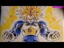 Vẽ Trunks super saiyan đẹp bằng màu Marco và touchliit