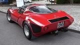 1968 Alfa Romeo 33 Stradale 2.0 V8 Engine Sound, Warm Up &amp Driving!