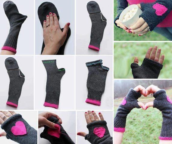 Короткие перчатки без пальцев своими руками