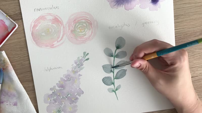 Watercolour Florals Part 1 - Creating the Flowers.20180703