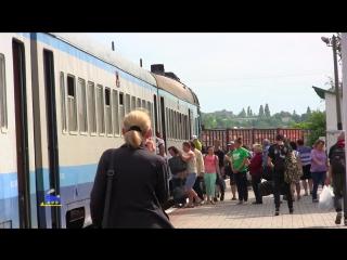 Черкассы - Умань. Самый медленный поезд. Пригородный дизель-поезд. Украинская Железная Дорога.