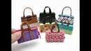 7 DIY Miniature Binder Clip Barbie Mini Bags Easy