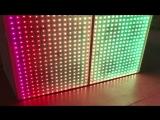 Пиксельный светодиодный фасад диджея. Перелив цветов.