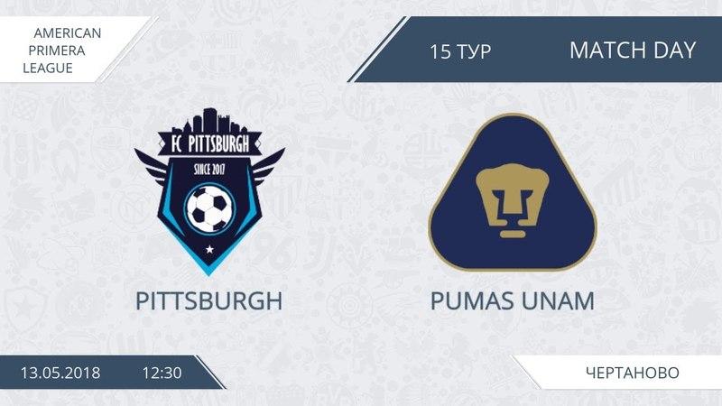 AFL18. America. Primera. Day 15. Pittsburgh - Pumas Unam