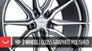 Vossen Hybrid Forged HF-3 Wheel | Gloss Graphite Polished Standard Finish