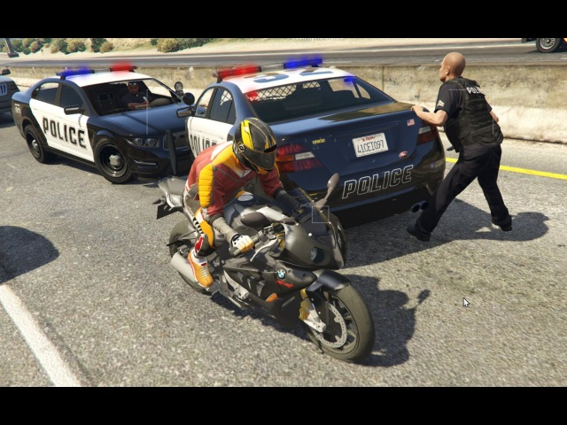 Герои нашего города Полицейская машина Купер Погоня за байкером моды GTA 5 Mods v3.1 Police Car 2016