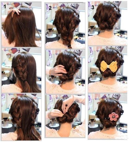 Простые прически на средние волосы в домашних условиях с фото