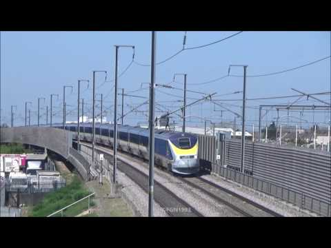 (HD) Refurbished Eurostar E300s Class 373s at Rainham | 08 09/04/2017