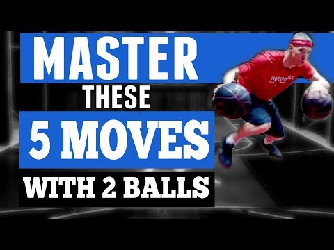 5 Basketball Dribble Moves To MASTER With 2 Balls!