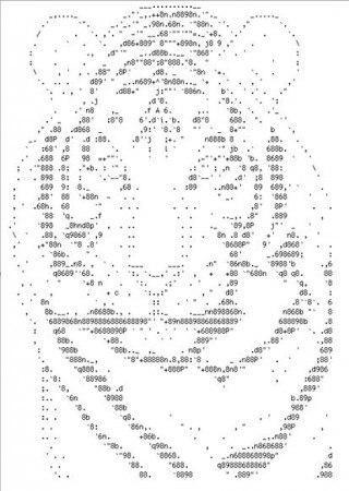 Картинки кота из символов
