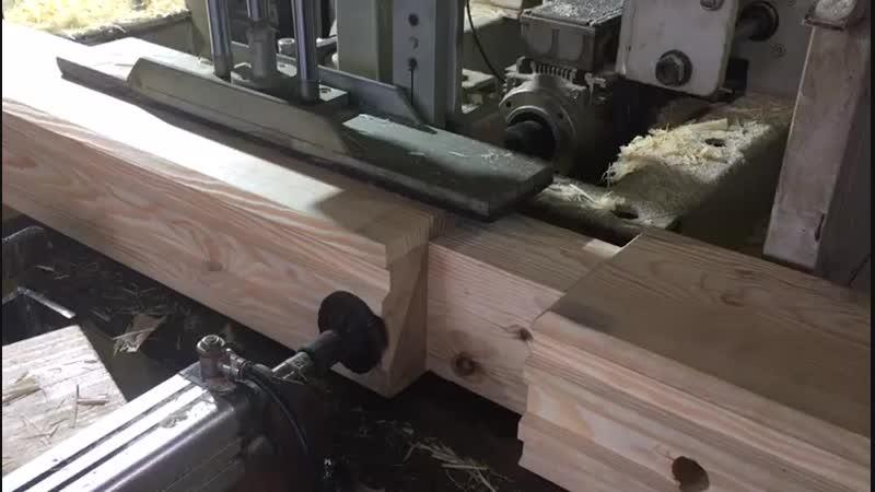 Сверловка бруса под деревянный нагель . Строго по разбревновке по проекту компанией ООО Шувое Ру