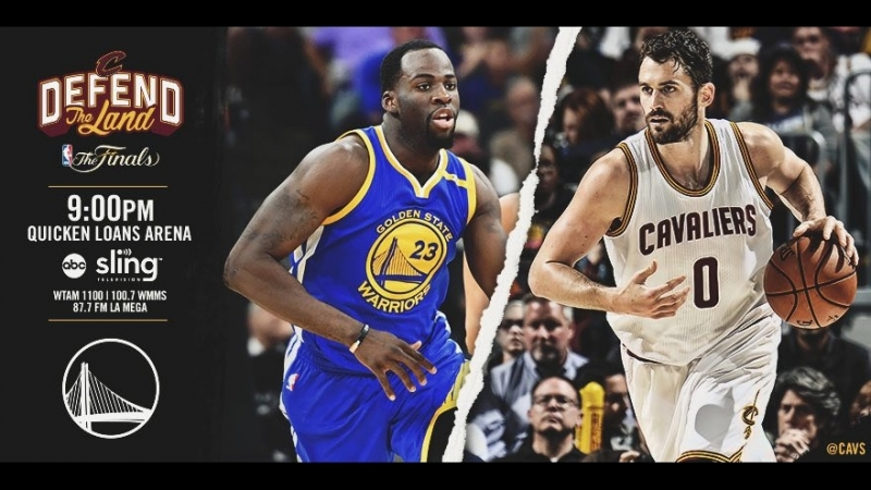 Game 3: Cleveland Cavaliers vs Golden State Warriors on Quicken Loans Arena 07.06.2017