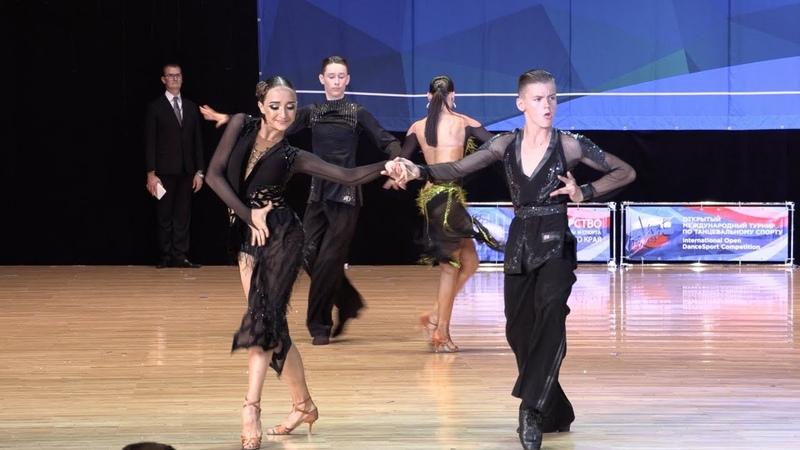 Харин Даниил - Хмельницкая Диана, Samba   Юниоры 21 Латиноамериканская программа