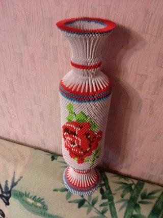 Объемное оригами вазы