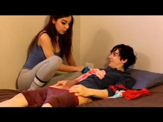 Teen caught her panties