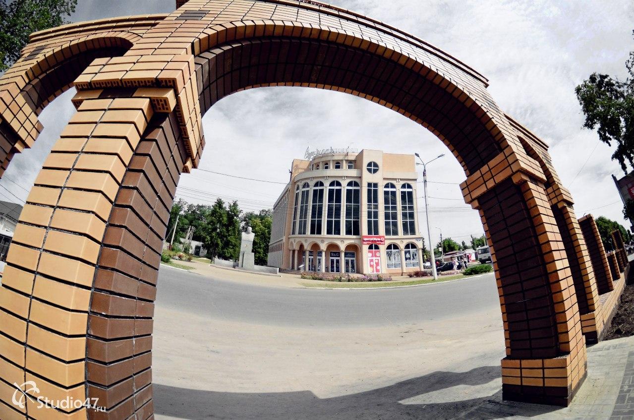 Входная арка в сквер Борисоглебска