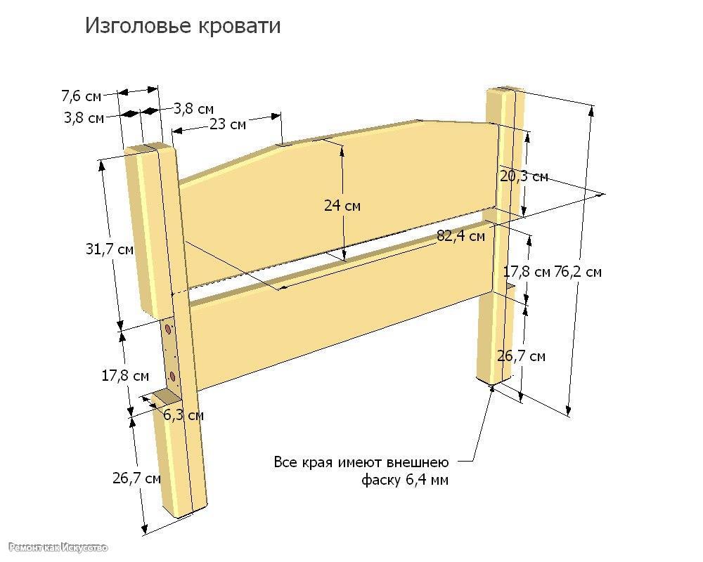 Кровать из массива сосны своими руками чертежи 686