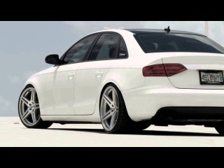 Slammered B8 Audi A4 w/ 20 Incurve IC-S5 Deep Concave Wheels / Rims