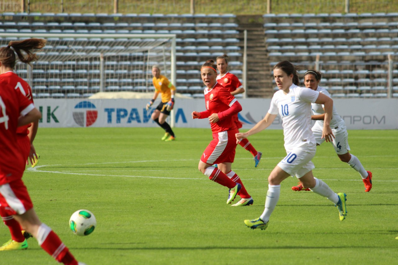 Беларусь – Англия женские футбольные сборные
