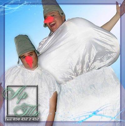 Слепи снеговика - авторский конкурс, ведущие Порубовы