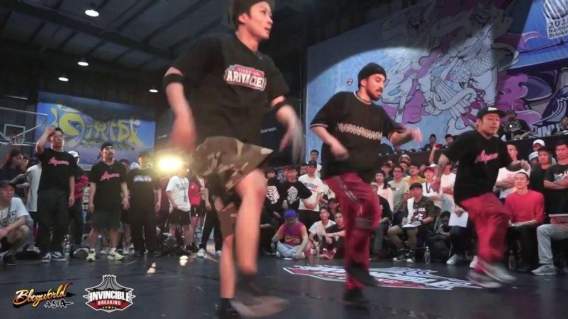 Ariya VS GZ Brother   FINAL CREW BATTLE ▶Invincible Breaking Jam Vol.2◀ CHINA