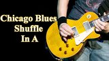 Chicago Blues Shuffle In A - 12 Bar Blues Backing Track In A