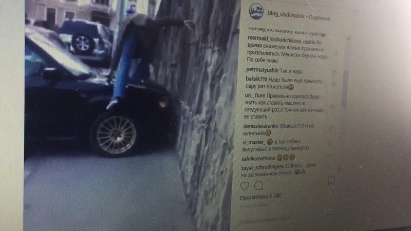 Девушка-пешеход показала, как нужно поступать с авто на тротуарах