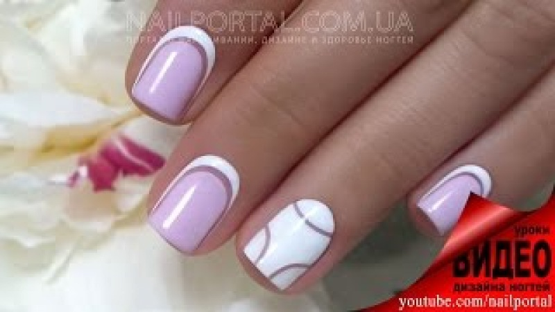 Дизайн ногтей гель-лак shellac - Обратный френч (видео уроки дизайна ногтей) » Freewka.com - Смотреть онлайн в хорощем качестве