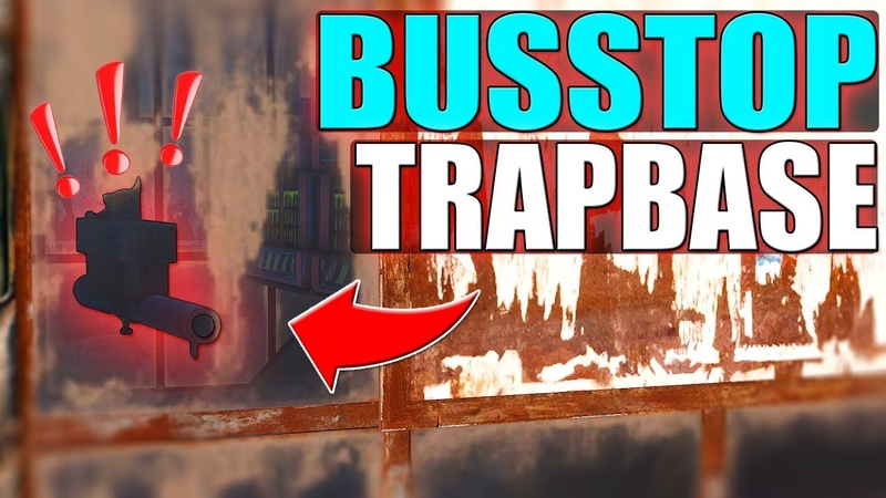 BUS STOP AND TRAPBASE IN ONE |Rust Base Building