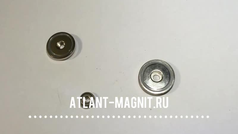 Магнитные крепежи с отверстием тип B