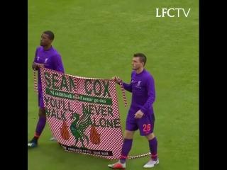 "Liverpool Football Club on Instagram_ ""You'll never walk alone. ❤️"""