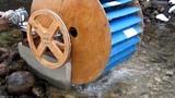 Micro hydro Poncelet waterwheel