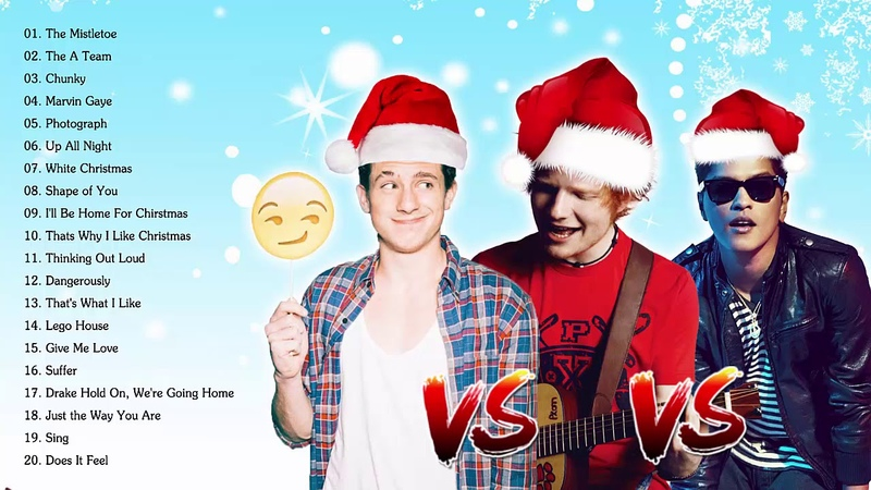 Charlie Puth, Bruno Mars, Ed Sheeran Best Christmas Songs,Greatest Hits Pop Playlist Christmas 2019