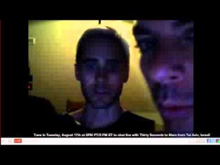 Livechat with 30 Seconds to Mars - Can we hear Jared?