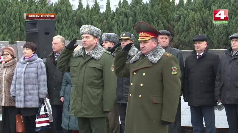 Республика Беларусь: Новобранцы пограничники Гродненской пограничной группы приняли присягу.