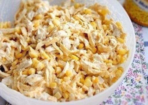 Салат с курицей и яичными блинчиками Ингредиенты: 500 г