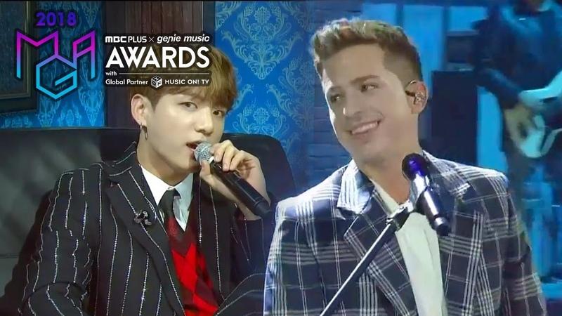 [2018 MGA] 찰리 푸스(Charlie Puth) X 방탄소년단 정국(Jungkook Of BTS) - We Dont Talk Anymore